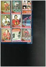 1974-75 Topps Hockey complete or partial team sets   Your Choice!