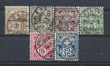 FRANCOBOLLI 1882/99 SVIZZERA CIFRA E CROCE 6 VALORI USATI D/4371