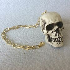 Made in USA Skull Skeleton head Mirror Dangler punk goth #32-D1