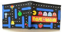 Retro Pac Man Bifold Wallet purse stawberry Raised detail id window zip pocket