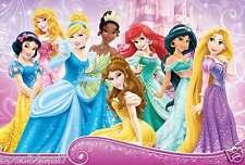 "Disney ""PrincesseS Wearing Sparkling Gowns"" Poster-Belle, Tiana, Ariel, Jasmine"