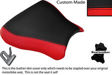 BLACK & RED CUSTOM FITS SUZUKI GSXR 600 750 SRAD 96-00 FRONT LTHR SEAT COVER