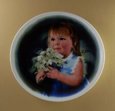 Zolan's Children FOR YOU Plate Donald Zolan Daisy Daisies Floral Girl #4 1981