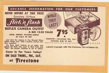 Advertising Postal Card - Reflex Camera Outfit at Firestone Tire & Rubber Co