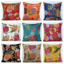 """16x16"""" Decorative Kantha Cushion Cover Embroidery Pillow Cover Throw pillow case"""