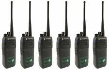 MOTOROLA DP3400 UHF 4 WATT WALKIE-TALKIE TWO WAY RADIOS & D SHAPE EARPIECES  x 6