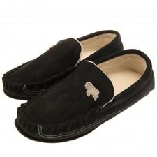Derby County Football Club Mens Blck Moccasin Slippers Size 7/8 Free UK PP