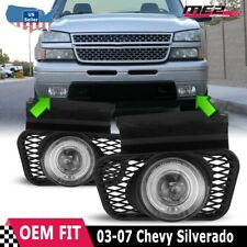 For Chevy Silverado 03-07 Replacement Halo Projector Fog Lights DOT Clear Lens