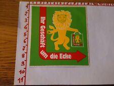 ADESIVO VINTAGE STICKER klebeR IHR GESCHAFT UM DIE ECKE  LION LEONE