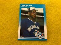 FRED MCGRIFF , ATLANTA BRAVES , 1987 FLEER UPDATE MLB BASEBALL ROOKIE CARD #U-75