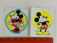 Vintage Mickey Mouse and Minnie Mouse Walt Disney Cartoon Decal Stickers