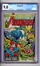 "Avengers #143 CGC 9.0 WP ""App..The OUTLAWS..Rawhide Kid..Two Gun Kid & Kid Colt"""