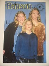 HANSON  BAND 1990's AUTHENTIC POSTER