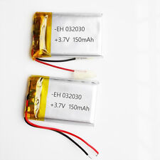 2 pcs 3.7V 150mAh Lipo polymer 302030 Battery For MP3 Bluetooth Pen Video Pen
