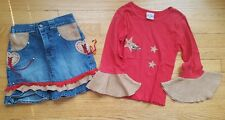 Bon-Bon Western Cowgirl Shirt And Skirt Size 6x Made in the USA