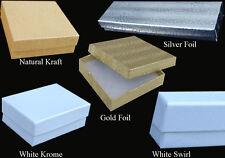 """100 PCS 3-1/2x3-1/2x1"""" Natural Kraft #33 Jewelry Box Gift Favor Retail Display"""