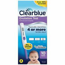 Clearblue Advanced Digital Ovulation 10 Test Kit with Dual Hormone LH Indicator
