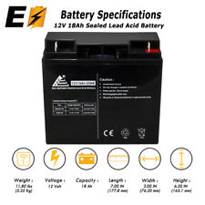 12V 18AH SLA Battery replaces PE12V17 Sealed Lead Acid AGM Replaces 12V 17Ah
