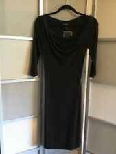 Nwt Vivienne Westwood Anglomania Black 3/4 sleeve scoop neck fitted Dress Sz XS
