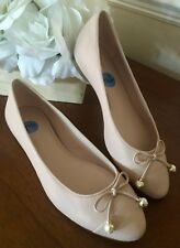 eb2fecd8905a New MICHAEL KORS Gia Ballet Flats PINK Leather Bow Pearl Accent Womens Size  7.5