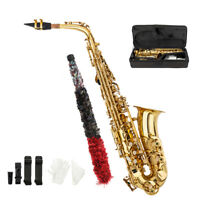 New Alto Eb Saxophone Sax Gold Hand Engraved Bell Decoration High Quality