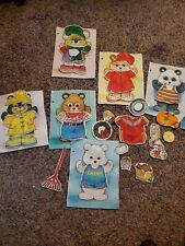 Betty Lukens Felt book 9 Dress up Bears Flannel Board Education