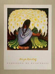 DIEGO RIVERA,'VENDEDORA DE ALCATRACES' AUTHENTIC  RARE 1997 ART PRINT