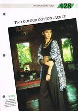 Knitting Pattern de Magazine. Deux Couleurs Veste. Creative Tricot Femme 428