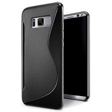 Samsung Galaxy S8 Plus Cover Custodia Case Silicone S-Line NERO +Pellicola