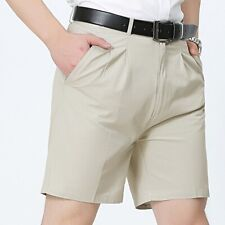 Men Cotton Shorts Half Suit Pants Casual Trousers Slim Beachwear Oversized Solid