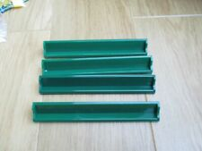 GREEN SCRABBLE LETTER STANDS X 4 VGC