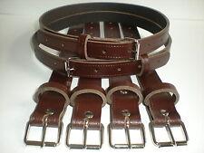 Landau vintage cuir véritable suspension sangles en marron