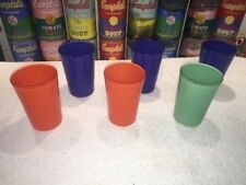 "6 pc mixed lot vintage Swanky Swig ""Go-Along With"" Fiesta Juice Glasses Tumblers"