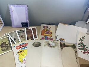 Huge Lot Of 50+ Vintage & Modern Stationery Mixed Lot Notecards Letter Sheets- C
