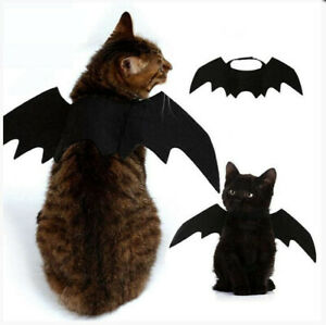 US! Black Bat Wings Vampire Pet Dog Cat Costume Halloween Dress Up Cosplay Prop