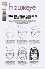 HAWKEYE #11 ZDARSKY HOW TO DRAW VARIANT MARVEL COMICS MADAME MASQUE