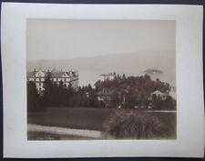 PALLANZA fine 1800 foto originale albumina 20x25 cm Lago Maggiore Verbania