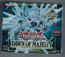 Konami Yu-Gi-Oh-Dawn Majesty 1st Edition Box of sellado de fábrica