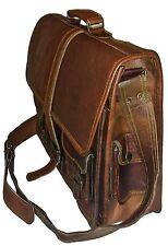 VINTAGE in pelle con Valigetta Portatile Borsa a tracolla Messenger Bag Borsello Tracolla
