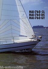 Hai 760 CL DS GT NP Nautic Plast ARP Yacht Prospekt Segelyacht 1998 brochure