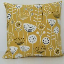 Yellow Cushion Cover DOUBLE SIDED Dandelion Dock Scandinavian Modern Fabric
