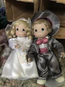 Ashton Drake Precious Moments Bride And Groom Dolls