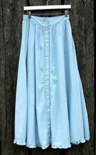 Vintage Jones New York Women's Sz 6 Full Length Chambray Denim Circle Skirt