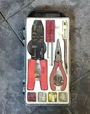 Vintage Sears Electrical Kit Wire Stripper Crimper Bolt Cutter Amp Tester