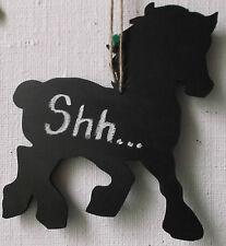 Cavallo A Forma Di Lavagna Lavagna Compleanno Natale stabile Tack pronta per scrivere