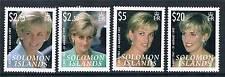 Solomon Is 2007 Diana Commemoration set SG1228/31 MNH