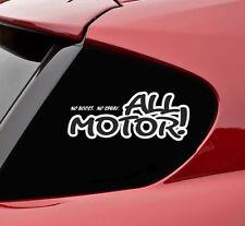No boost no spray all motor vinyl decal sticker bumper funny car truck oem jdm