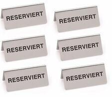 6 Stück Reserviert Schild, Reserviertschild, Tischaufsteller, CNS, 10 cm x 5 cm