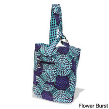 GIGI HILL GIA AND DANI 'DELANEY' SLING BAG REVERSIBLE CANVAS  PURSE FLOWER BRUST