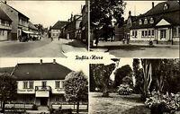 Roßla Harz Sachsen Anhalt DDR s/w Mehrbild AK ~1957 gelaufen Gasthaus Dorfpartie